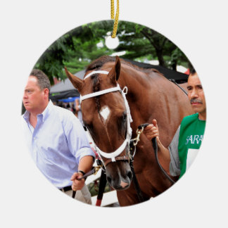 Mr. Z in the 100th Sanford Stakes Double-Sided Ceramic Round Christmas Ornament