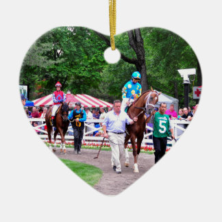 Mr. Z in the 100th Sanford Stakes Double-Sided Heart Ceramic Christmas Ornament