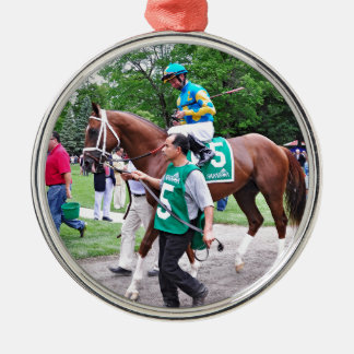 Mr. Z in the 100th Sanford Stakes Round Metal Christmas Ornament