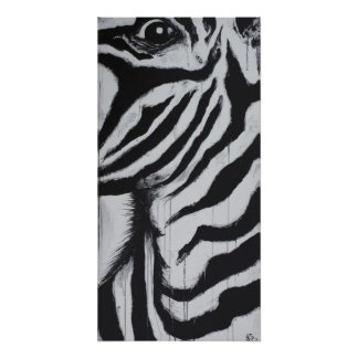 Mr. Zebra Animal Wildlife Abstract Original Art Poster