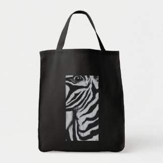 Mr. Zebra Eye Wildlife African Plains Painting Art Tote Bag