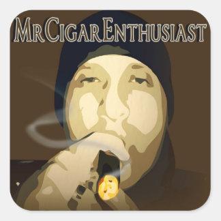 MrCigarEnthusiast Square Sticker
