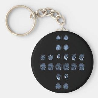 MRI Cross Basic Round Button Keychain