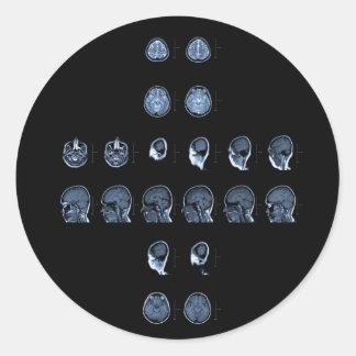 MRI Cross Classic Round Sticker