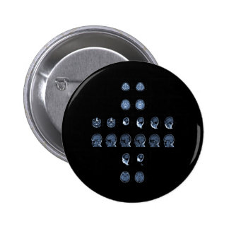 MRI Cross Pinback Button