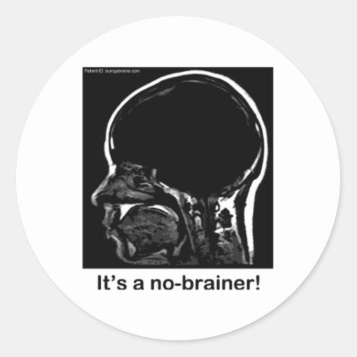 MRI: It's a no-brainer! Classic Round Sticker