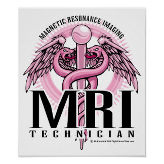 MRI Pink Caduceus Poster