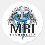 MRI Tech Caduceus Classic Round Sticker
