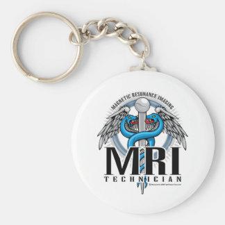MRI Tech Caduceus Keychain