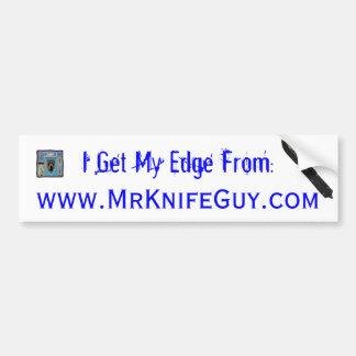 MrKnifeGuy.com Bumper Sticker 1