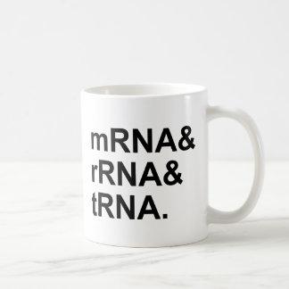 mRNA rRNA tRNA | Types of RNA Coffee Mug