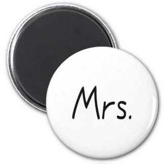 Mrs. 2 Inch Round Magnet