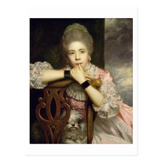 Mrs Abington as Miss Prue in Congreve's 'Love for Postcard