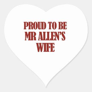 Mrs Allen designs Heart Sticker