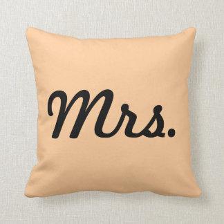 Mrs. Almohada de pareja Cojín Decorativo