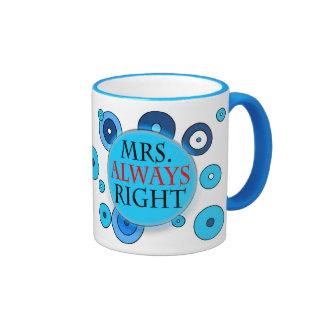Mrs Always Right 11 oz Ringer Mug