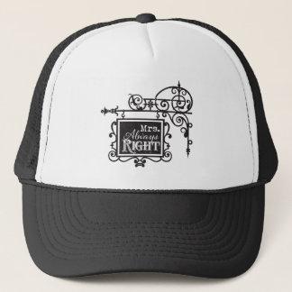 Mrs. Always Right Batchelorette Party Wedding Trucker Hat