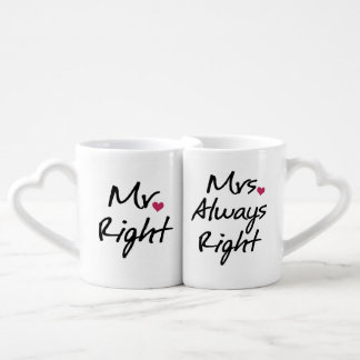 Mrs Always Right Couples Coffee Mug