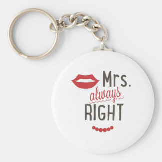 Mrs. always right gift idea keychain