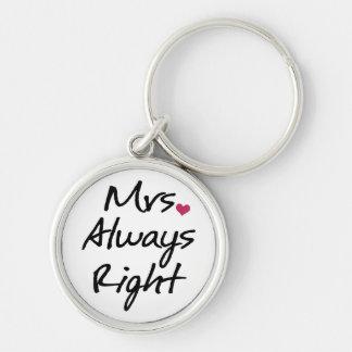 Mrs Always Right Keychain