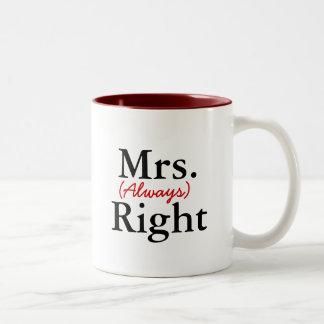 Mrs. (Always) Right Mugs