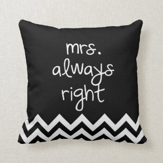 mrs always right pillows