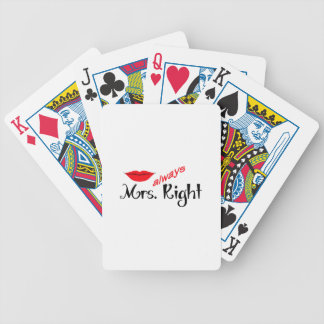 MRS ALWAYS RIGHT BICYCLE PLAYING CARDS