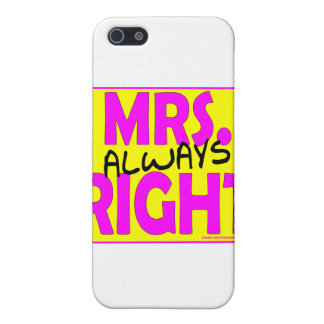 MRS. ALWAYS RIGHT T-SHIRTS AND GIFTS COVER FOR iPhone SE/5/5s