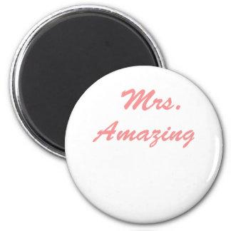 Mrs. Amazing 2 Inch Round Magnet