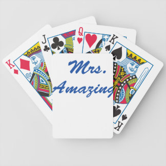 Mrs. Amazing Bicycle Playing Cards