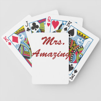 Mrs. Amazing! Bicycle Playing Cards