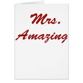Mrs. Amazing! Card