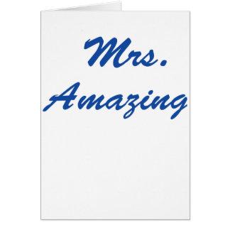 Mrs. Amazing Card