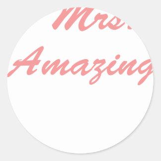 Mrs. Amazing Classic Round Sticker