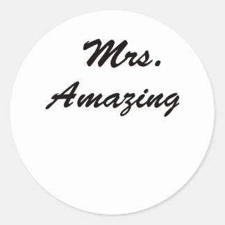 Mrs. Amazing! Classic Round Sticker