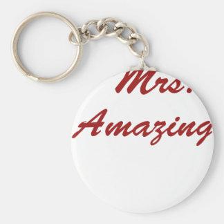 Mrs. Amazing! Keychain