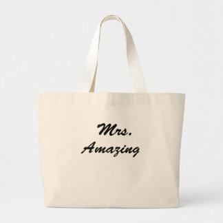 Mrs. Amazing! Large Tote Bag