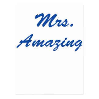 Mrs. Amazing Postcard