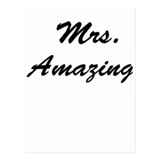Mrs. Amazing! Postcard