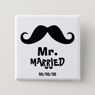 Mrs. and mr., newly weds ,just married,Set x2 Pinback Button