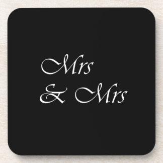 Mrs and Mrs Beverage Coaster