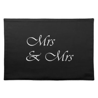 Mrs and Mrs Cloth Placemat