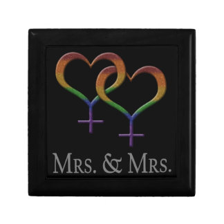 Mrs. and Mrs. Lesbian Pride Gift Boxes