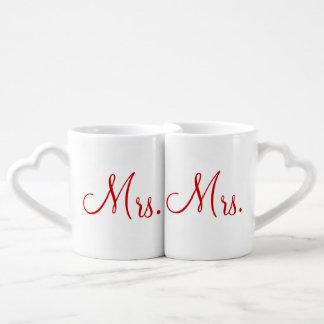 Mrs. and Mrs. Lovers' Mug Set