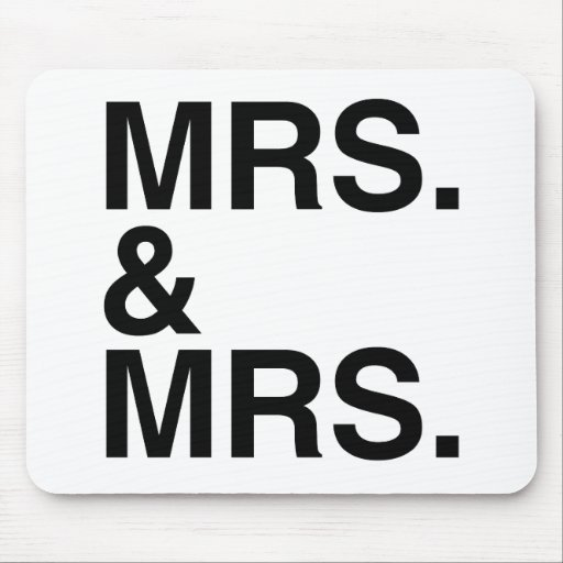 MRS. AND MRS. -.png Mouse Pad