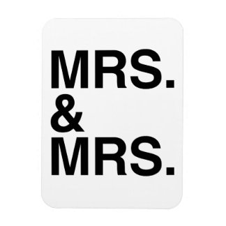 MRS. AND MRS. -.png Vinyl Magnet
