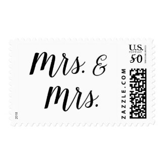 mrs and mrs post stamp