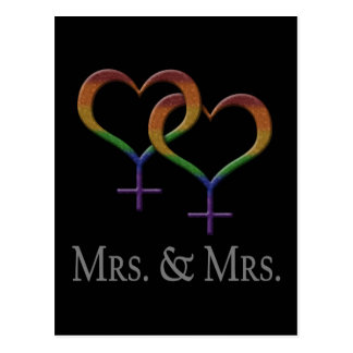 Mrs. and Mrs. Postcard