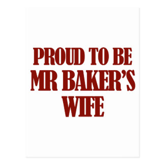 Mrs baker designs postcard