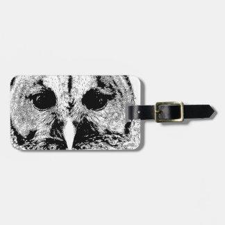 Mrs Barred Owl - Mar 2015 Travel Bag Tag